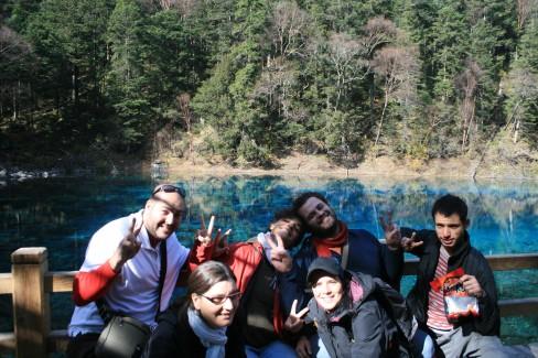 Por fin juntos en el Valle de Jiǔzhàigōu